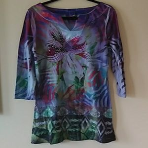 Hannah jungle print tunic M